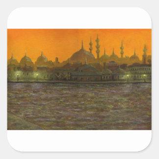 Istanbul Türkiye / Turkey Square Sticker