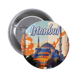 Istanbul Vintage Travel Poster 2 Inch Round Button