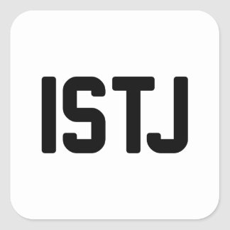ISTJ SQUARE STICKER