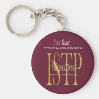 ISTP theCrafter Basic Round Button Keychain