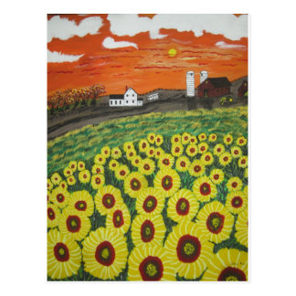 ISunflower Valley Farm Postcard