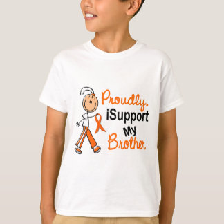 iSupport 1 SFT Leukemia MS Kidney Cancer BROTHER T-Shirt