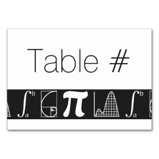 It Adds Up in Black Table Card