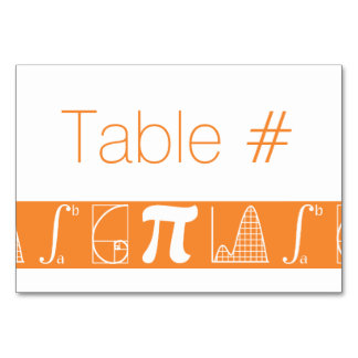 It Adds Up in Orange Table Card