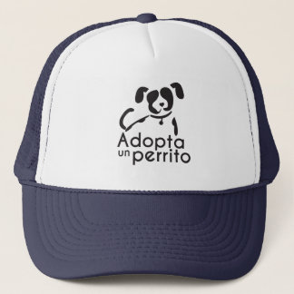 It adopts a small dog cap