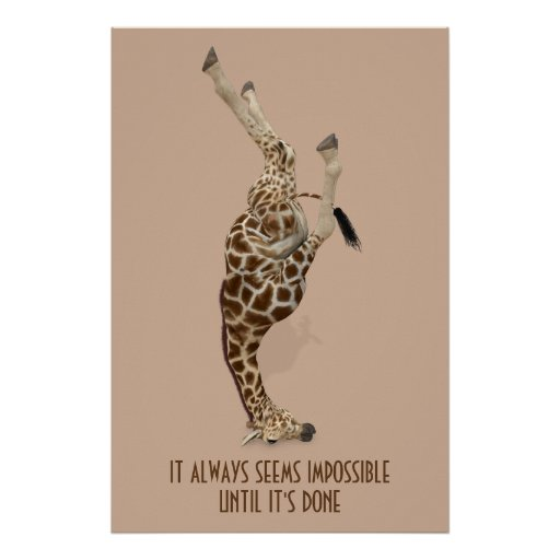 It Always Seems Impossible Until It's Done Yoga Poster
