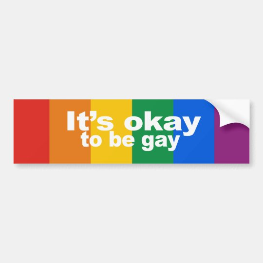 It's okay to be gay Bumper Sticker