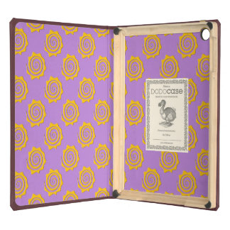 It cheers yellow sun in spiral on violet bottom iPad air case