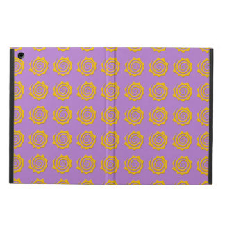 It cheers yellow sun in spiral on violet bottom case for iPad air