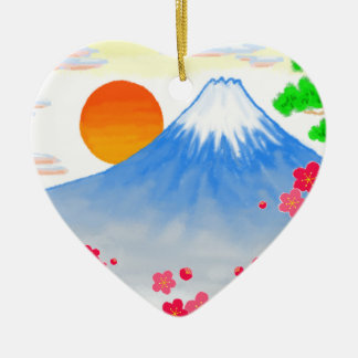 It comes with Mt.Fuji Mt. Fuji, light Ceramic Ornament