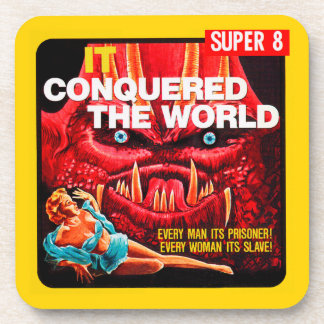 """It Conquered The World"" 1950s Movie Film Box Drink Coaster"
