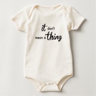 It don't mean a thing if it ain't got that SWING Baby Bodysuit