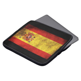it founds for portable with the flag of Spain Laptop Sleeve
