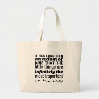 It has long been an axiom of mine that the little large tote bag