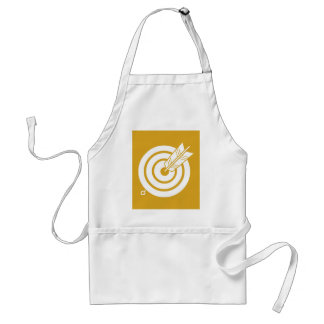 It hits against circularly, the arrow standard apron