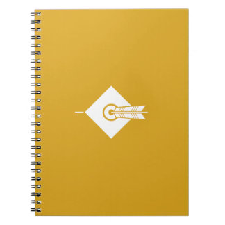 It hits against the mark, the arrow notebook