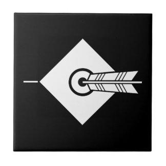 It hits against the mark, the arrow tile