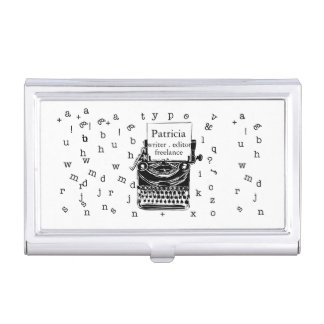 It is a Retro Vintage Cute Typewriter Sketch Business Card Case