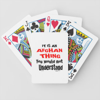 It Is AFGHAN Thing Designs Bicycle Playing Cards