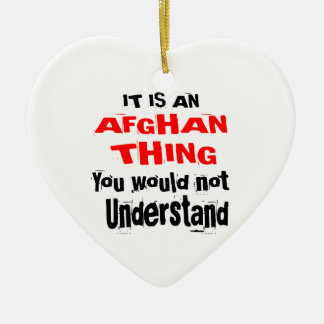It Is AFGHAN Thing Designs Ceramic Ornament