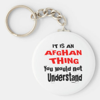 It Is AFGHAN Thing Designs Keychain