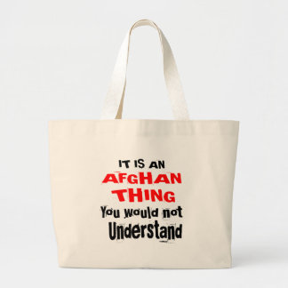 It Is AFGHAN Thing Designs Large Tote Bag