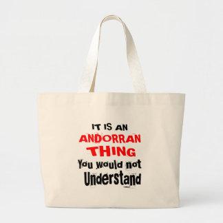 It Is ANDORRAN Thing Designs Large Tote Bag