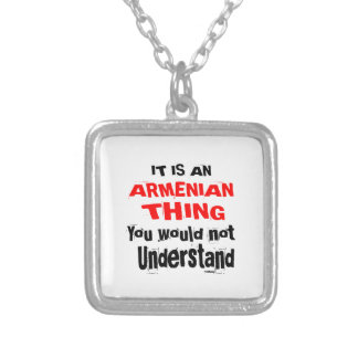 IT IS ARMENIAN THING DESIGNS SILVER PLATED NECKLACE