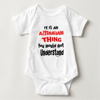 IT IS AZERBAIJANI THING DESIGNS BABY BODYSUIT