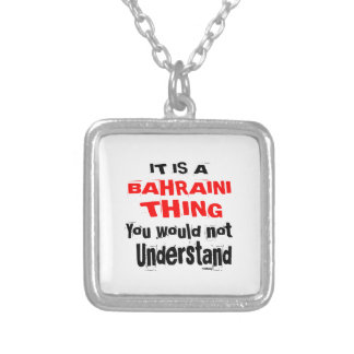 IT IS BAHRAINI THING DESIGNS SILVER PLATED NECKLACE