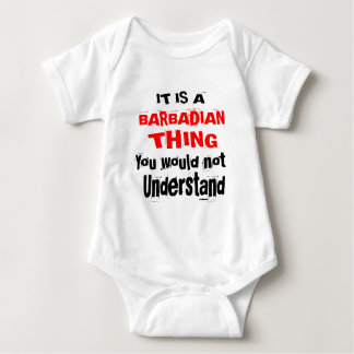 IT IS BARBADIAN THING DESIGNS BABY BODYSUIT