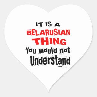 IT IS BELARUSIAN THING DESIGNS HEART STICKER