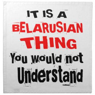 IT IS BELARUSIAN THING DESIGNS NAPKIN