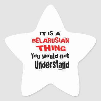 IT IS BELARUSIAN THING DESIGNS STAR STICKER