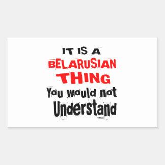 IT IS BELARUSIAN THING DESIGNS STICKER