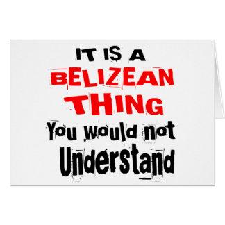 IT IS BELIZEAN THING DESIGNS CARD