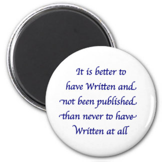 It is better to have written magnet
