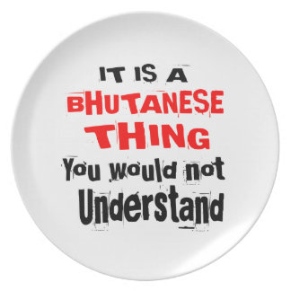 IT IS BHUTANESE THING DESIGNS PLATE