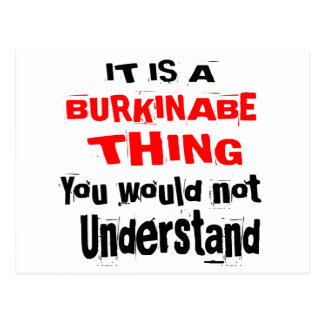 IT IS BURKINABE THING DESIGNS POSTCARD