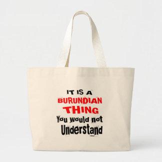 IT IS BURUNDIAN THING DESIGNS LARGE TOTE BAG