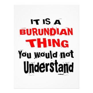 IT IS BURUNDIAN THING DESIGNS LETTERHEAD