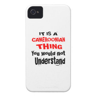 IT IS CAMEROONIAN THING DESIGNS iPhone 4 CASE