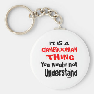 IT IS CAMEROONIAN THING DESIGNS KEYCHAIN