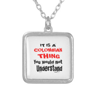 IT IS COLOMBIAN THING DESIGNS SILVER PLATED NECKLACE