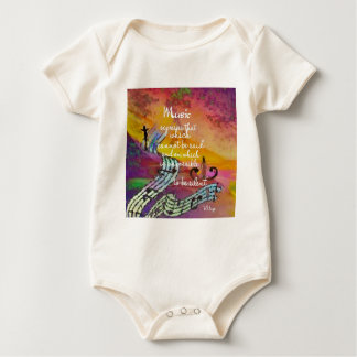 It is difficult to hide the music emotions baby bodysuit