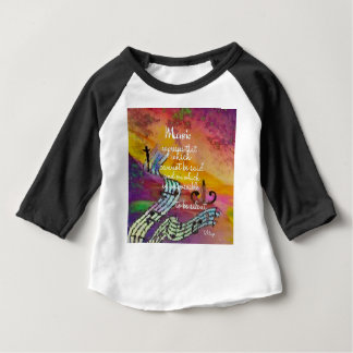 It is difficult to hide the music emotions baby T-Shirt
