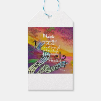 It is difficult to hide the music emotions pack of gift tags