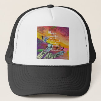 It is difficult to hide the music emotions trucker hat