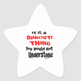 IT IS DJIBOUTI THING DESIGNS STAR STICKER
