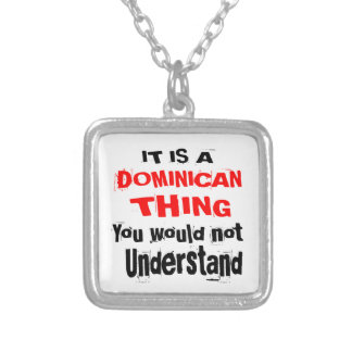 IT IS DOMINICAN THING DESIGNS SILVER PLATED NECKLACE